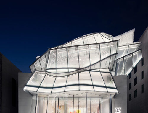 FRANK GERHY'S GLASS DESIGN FOR LOUIS VUITTON MAISON IN SEOUL