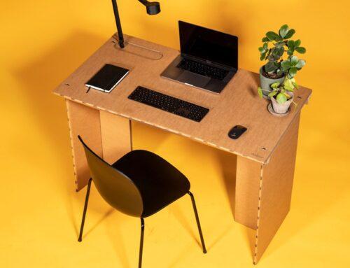 STYKKA DESIGNS CARDBOARD DESK TO WORK FROM HOME
